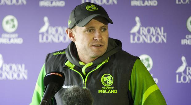 Tough task: William Porterfield believes Ireland can slow down the Afghans
