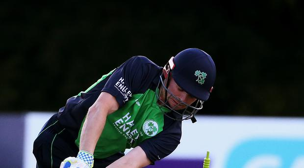 Ireland captain William Porterfield only scored four runs as Afghanistan closed in on victory after day two of their Intercontinental Cup match in Greater Noida