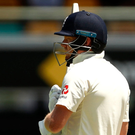 Butt of jokes: Cameron Bancroft of Australia has words with England's Jonny Bairstow