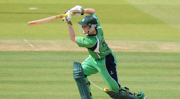 William Porterfield's century at the top of the order helped Ireland secure victory