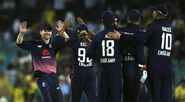 England celebrate victory