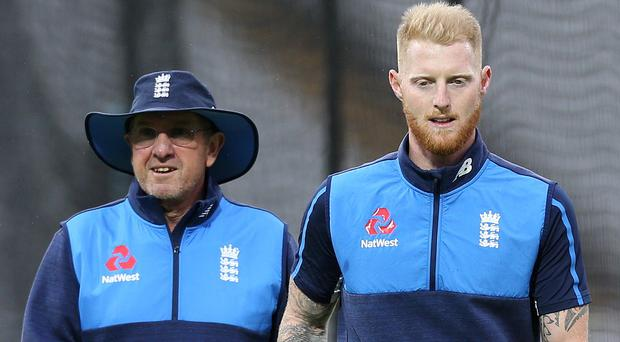 Trevor Bayliss, pictured left, expects Ben Stokes to be back in an England shirt soon