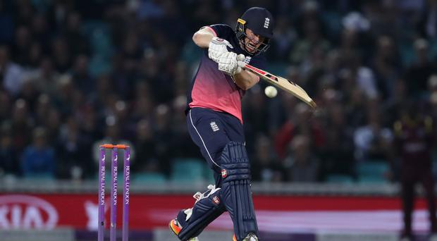Eoin Morgan's unbeaten 80 helped England to victory