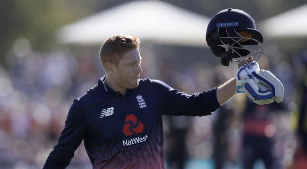 Jonny Bairstow hit a quickfire century as England clinched the series