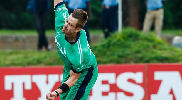 High point: Boyd Rankin is the only Ireland player in the Team of the Tournament