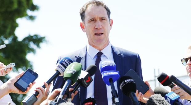 CA chief executive James Sutherland has travelled to South Africa
