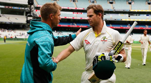 Steve Smith, right, and David Warner will be sanctioned on Wednesday