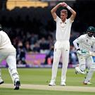 England struggled in the field on day two