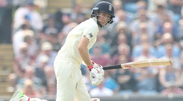 Joe Root, pictured, fell short of his half-century as England sought to take control against Pakistan (Martin Rickett/PA)