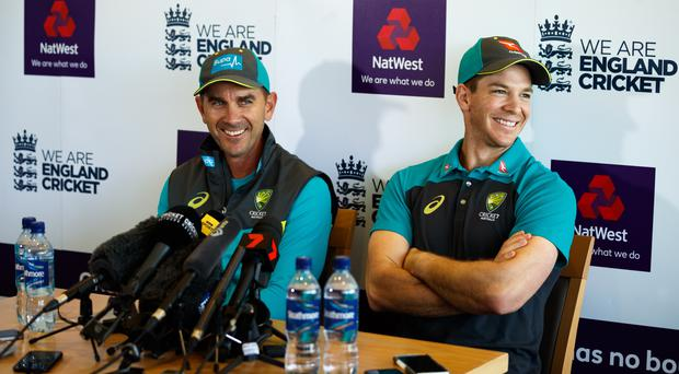 Justin Langer, left, and Tim Paine seek to kick-start a new era for Australia (John Walton/PA)