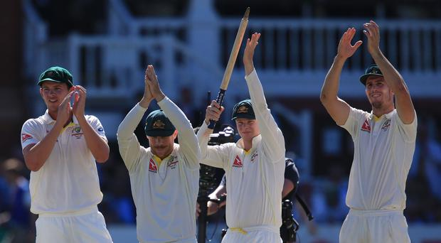 Josh Hazlewood, David Warner, Steve Smith and Mitchell Marsh, l-r, are missing Australia's tour for various reasons (Nick Potts/PA)