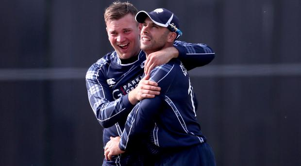 Kyle Coetzer, right, wants Scotland to enjoy their victory over England (Jane Barlow/PA)