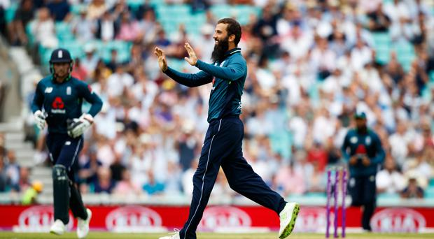 Moeen Ali, centre, put England in control in their opening one-day clash with Australia (John Walton/PA)