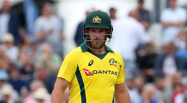 Aaron Finch was in record-breaking form for Australia against Zimbabwe (Mark Kerton/PA)