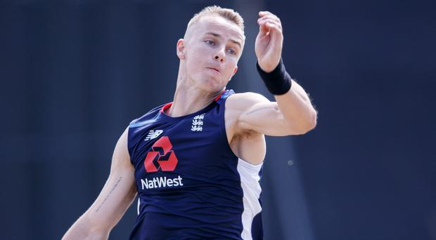 Tom Curran has suffered a side strain and will miss the Vitality IT20 and one-day international series against India (Robert Perry/PA)