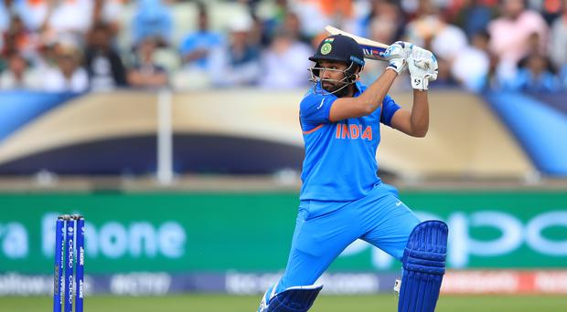 India's Rohit Sharma in action during the ICC Champions Trophy, semi-final match at Edgbaston, Birmingham.