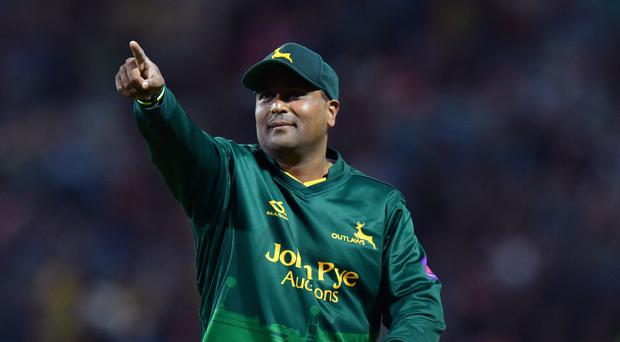 Nottinghamshire's Samit Patel celebrates running out Birmingham's Ed Pollock during the NatWest T20 Blast Finals Day at Edgbaston, Birmingham.
