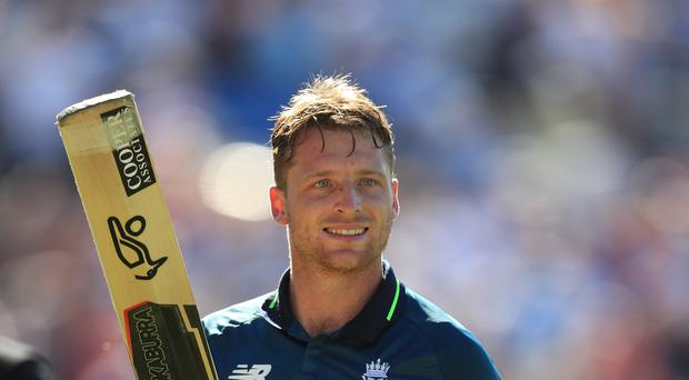 Jos Buttler, pictured, would consider daubing his bat with 'It's coming home' (Mike Egerton/PA)