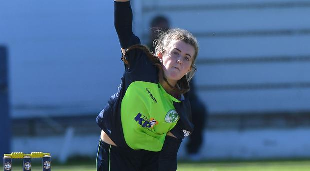 Top player: Lucy O'Reilly took three wickets for Ireland