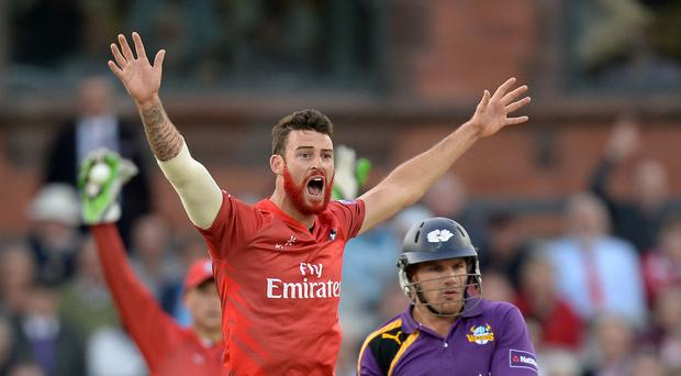 Jordan Clark excelled with the ball for Lancashire (Simon Cooper/PA)