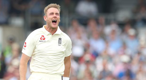 Stuart Broad says he is heading into the India series 100 per cent fit (Martin Rickett/PA)