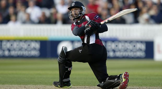 Peter Trego hit a century for Somerset (Paul Harding/PA)