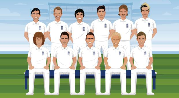 An artist's impression of England's best Test XI (ECB matchday programme)