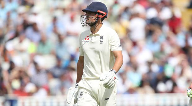 Alastair Cook was out early on day one (Nick Potts/PA)
