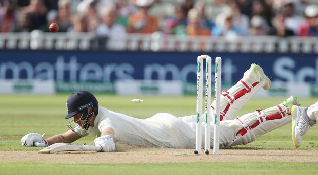 Joe Root was run out for 80 against India (Nick Potts/PA)
