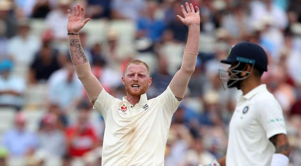 England's Ben Stokes claimed his 100th Test wicket against India at Edgbaston (Nick Potts/PA)