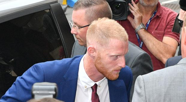 Ben Stokes arrives at court in Bristol today (Ben Birchall/PA)