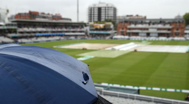 Rain was frustrating the players at Lord's (Adam Davy/PA)