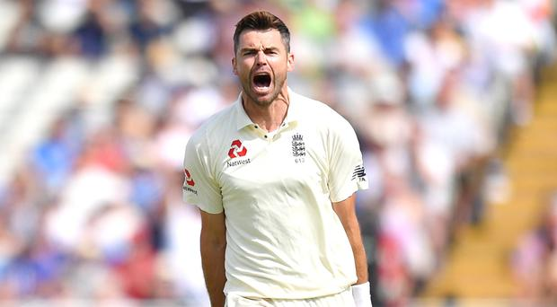 England's James Anderson took two early wickets at Lord's (Anthony Devlin/PA)