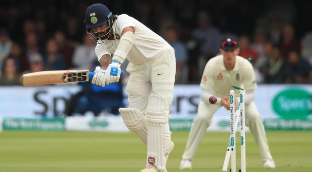 Murali Vijay was bowled by James Anderson for a duck (Adam Davy/PA)