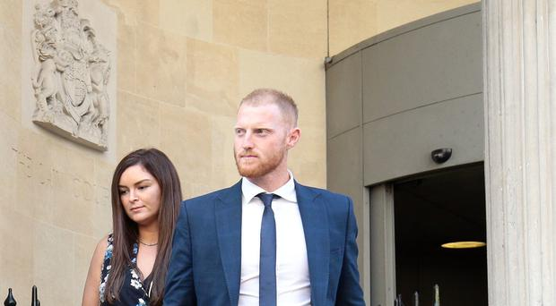 Ben Stokes leaves Bristol Crown Court (Aaron Chown/PA)