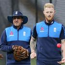 Trevor Bayliss, left, must decide whether to recall Ben Stokes at Trent Bridge (Aaron Chown/PA)