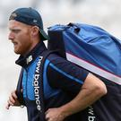England's Ben Stokes walks out for the nets session at Trent Bridge, Nottingham.