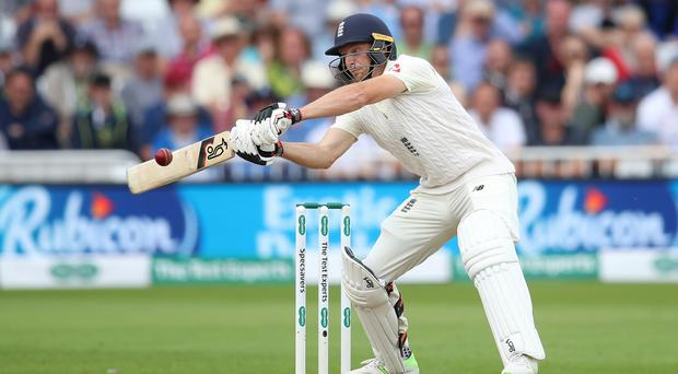 Jos Buttler was proud of his maiden Test ton – even if it is likely to come in a losing cause (Tim Goode/PA)