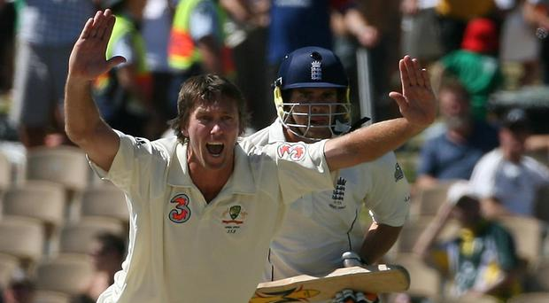 Glenn McGrath, left, and James Anderson are Test cricket's most prolific pacemen (Gareth Copley/PA)