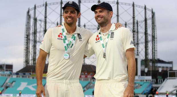 James Anderson broke a Test record as Alastair Cook ended his international career (Adam Davy/PA)