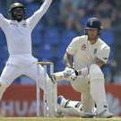 Ben Stokes was out second ball (Eranga Jayawardena/AP)