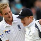 Stuart Broad, left, will replace James Anderson in the third Test for England (Anthony Devlin/PA)
