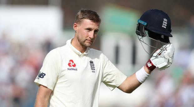 Joe Root batted fluently on day one in Barbados (Adam Davy/PA)