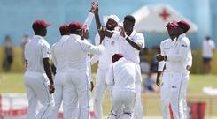 The West Indies fought back on the second day of the third Test against England (Ricardo Mazalan/AP)