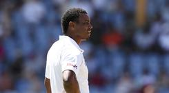 West Indies' Shannon Gabriel has been hit with a four-game ban by the ICC (Ricardo Mazalan/AP)
