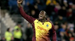 Carlos Brathwaite has success against England in the T20 format (Richard Sellers/PA)