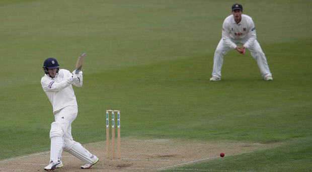 Hampshire's Sam Northeast is closing in on a century (Adam Davy/PA)