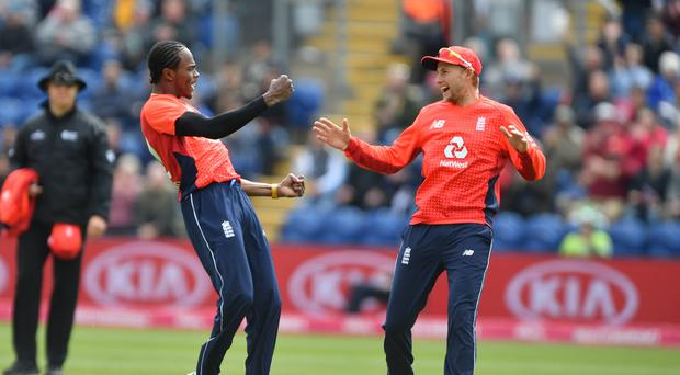 England's Test captain Joe Root (right) says new boy Jofra Archer (left) is an Ashes contender (Simon Galloway/PA)