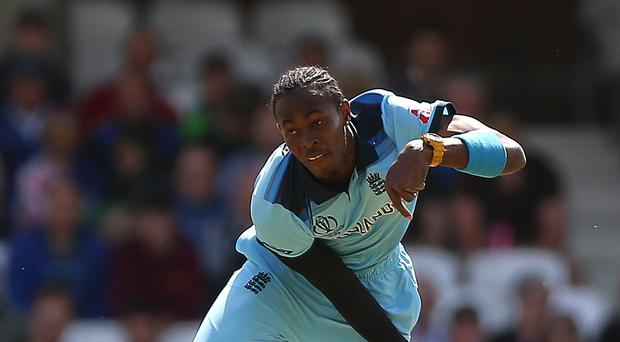 Jofra Archer took three wickets for England as Afghanistan were all out for 160 at the Oval (Nigel French/PA)