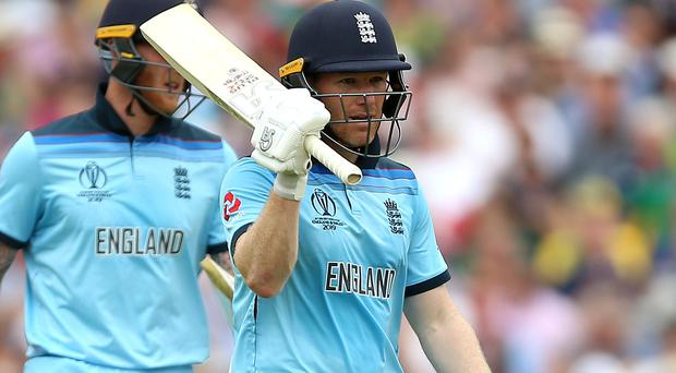 Eoin Morgan was one of four England players to reach 50 at the Oval (Nigel French/PA)